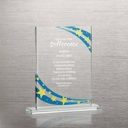 Brilliant Colored Glass Award - Starry Night